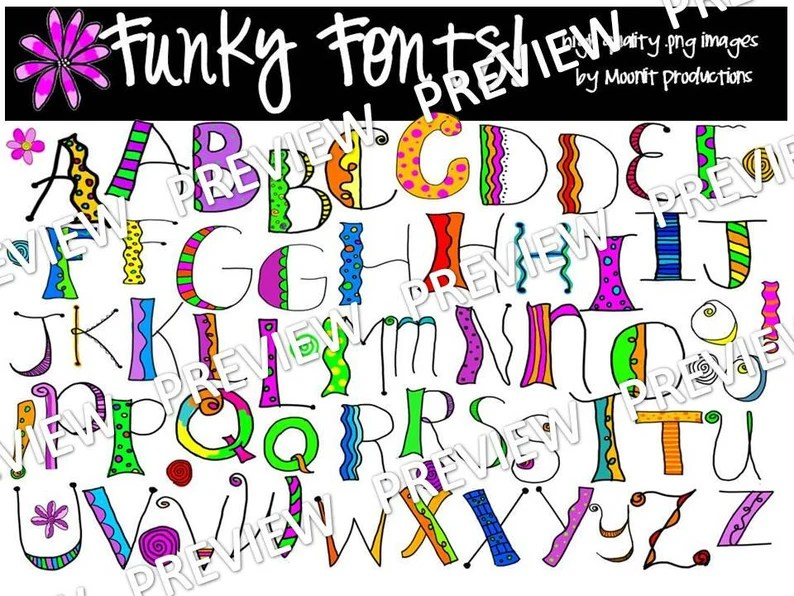 Download Funky Fonts COMBO PACK   Etsy