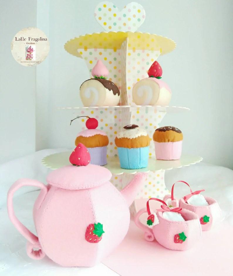 tea set felt toys