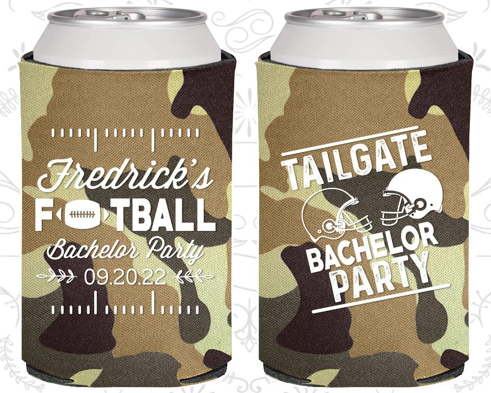 football bachelor party personalized