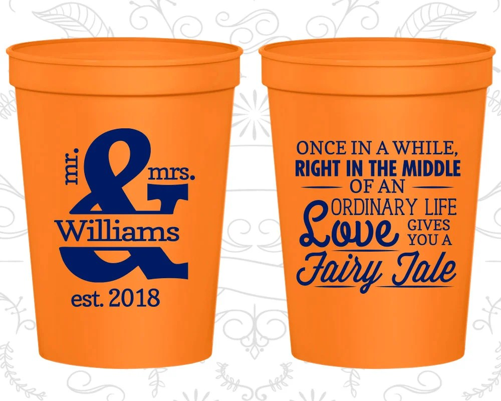 personalized cups wedding cup