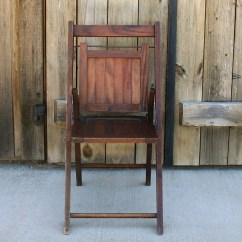 Child Camping Chair Antique Wingback Wood Folding S Vintage Etsy Image 0