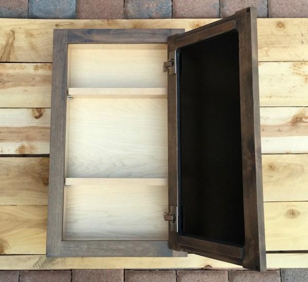 Custom Built Recessed Medicine Cabinet Free Shipping