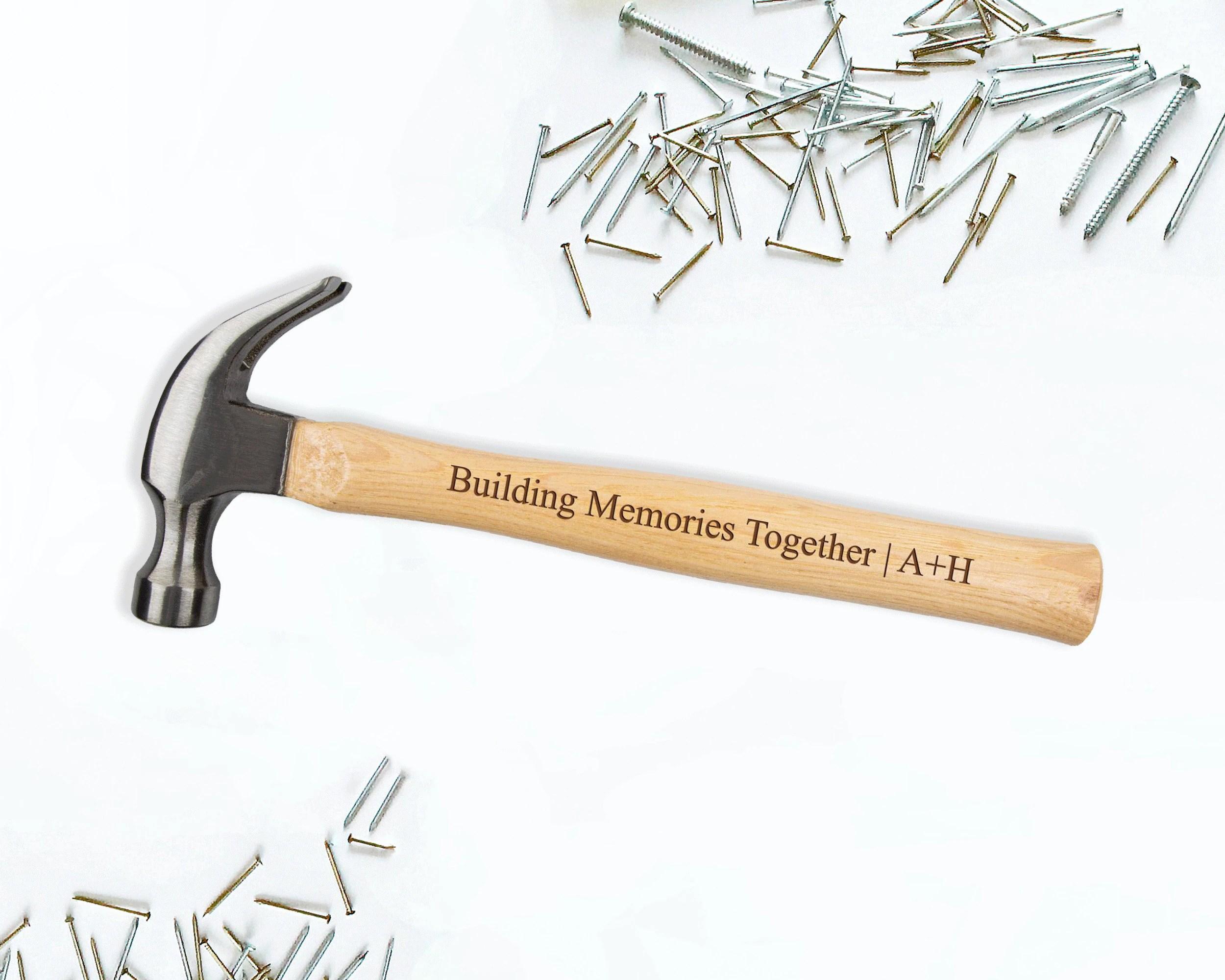 Personalized Engraved Hammer  Custom Monogrammed Wooden Design 3