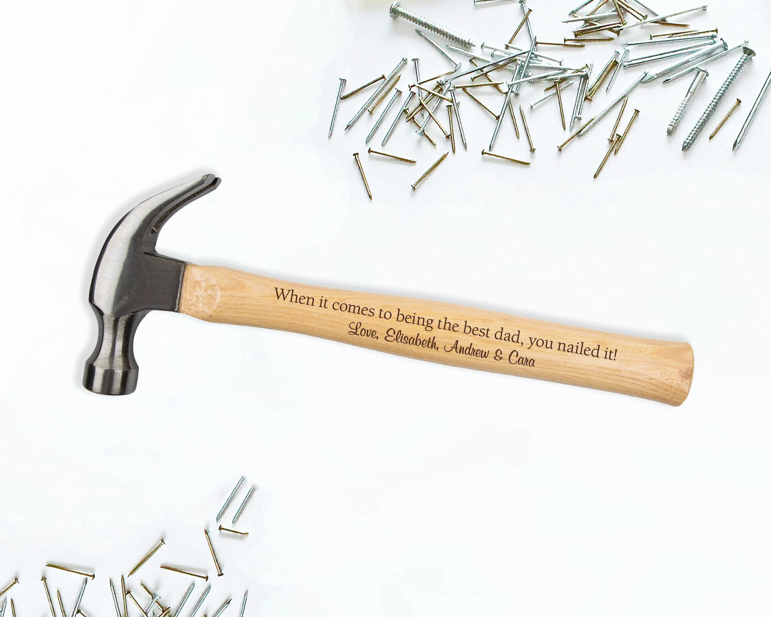 Personalized Engraved Hammer  Custom Monogrammed Wooden Design 4