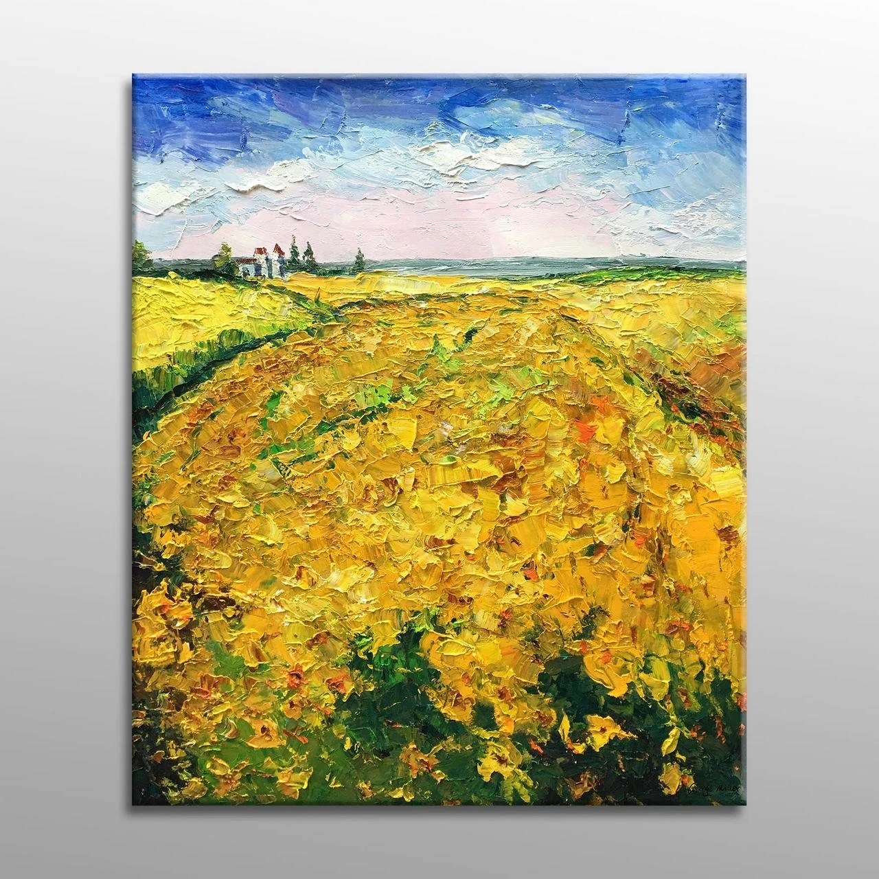oil painting square large