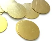 100 Gold Colour Discs. 16mm Stamping Circle Tags. Shiny Engraving Charms