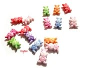 Pack of 100 Assorted Colours Acrylic Bunny Rabbit Spacer Beads. Animal Charms. 12mm x 8mm