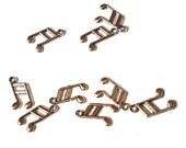 Pack of 50 Silver Colour Musical Note Charms. Eighth Notes Music Pendants. 13mm x 8mm