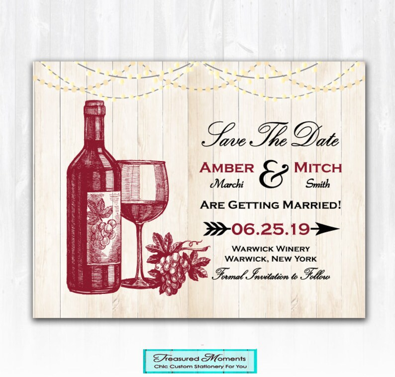 wine save the date