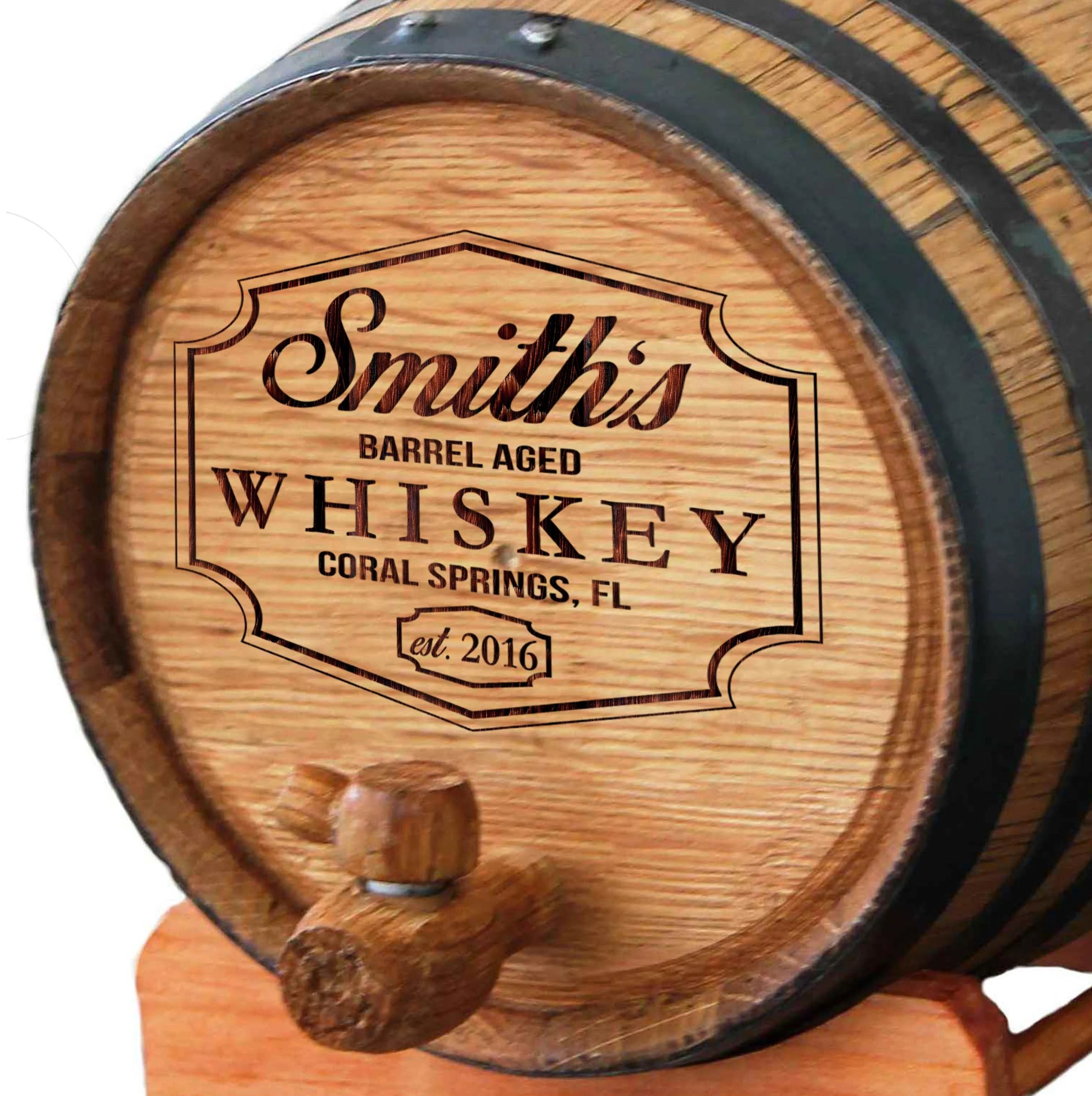 Personalized Wine Barrel Bourbon Barrel Whiskey Barrel image 1