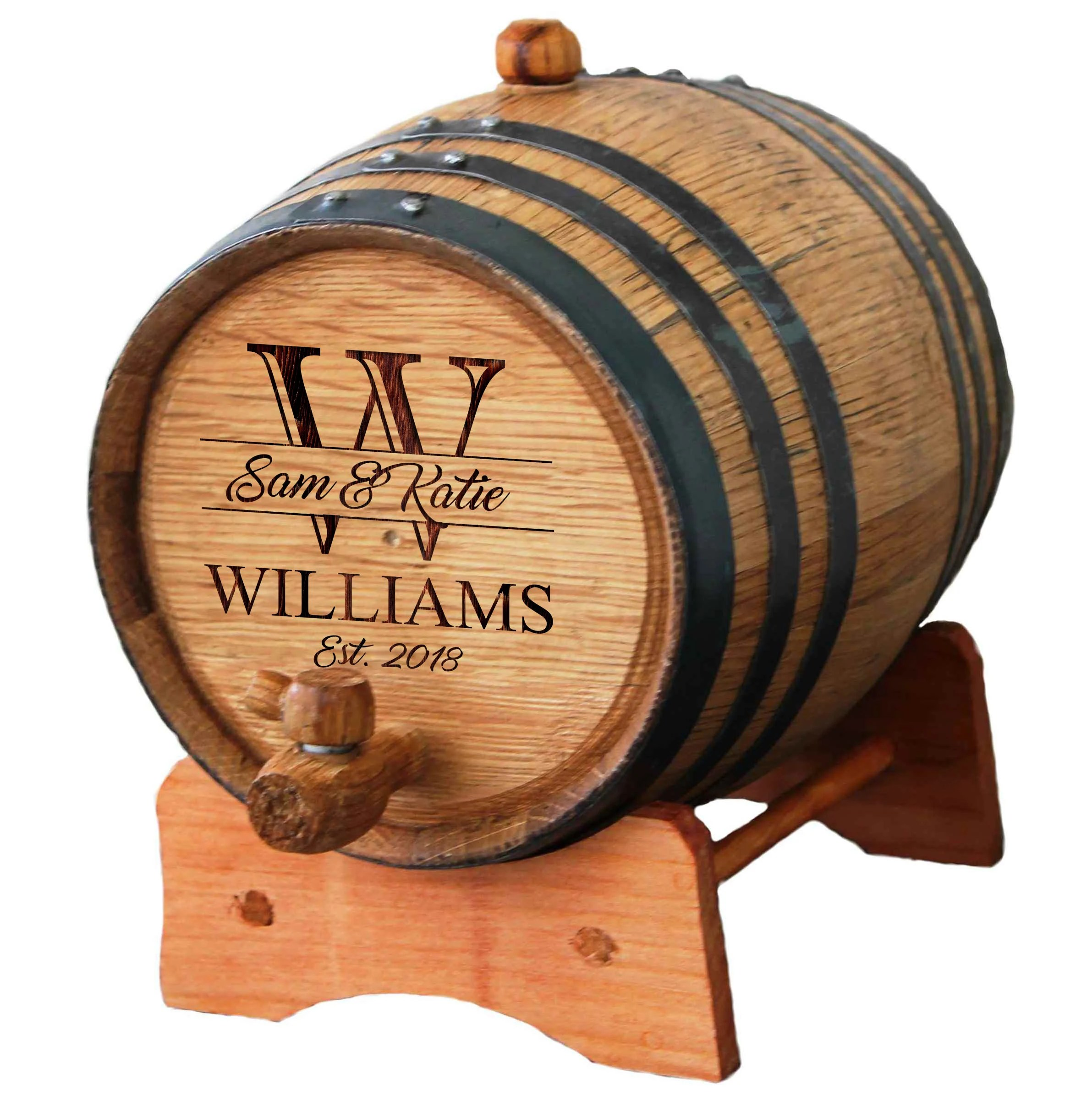 Personalized Mini-Oak Whiskey Barrel  Groomsmen Gift  image 1
