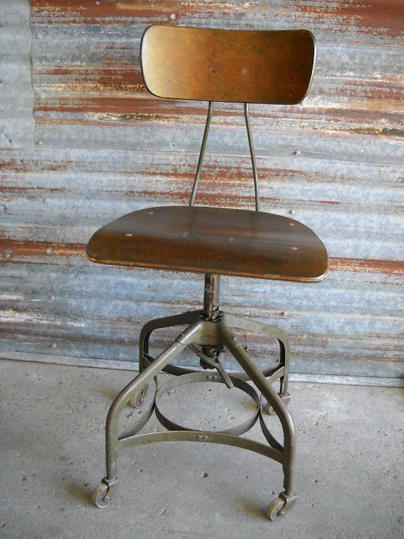 swivel chair operations bleacher chairs with backs uhl steel furniture toledo metal co factory etsy image 0