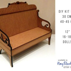 18 Doll Sofa Diy Cheers Clayton Motion Leather Reviews Furniture For 30 And 40 Cm 12 16 Etsy 50