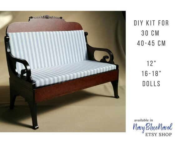 18 doll sofa diy dimensions standard furniture for 30 and 40 cm 12 16 etsy image 0