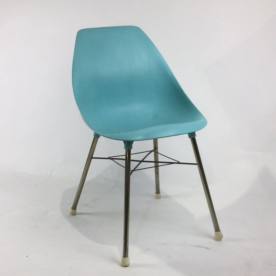 mid century modern plastic chairs rustic wedding chair sashes molded in aqua turquoise etsy image 0