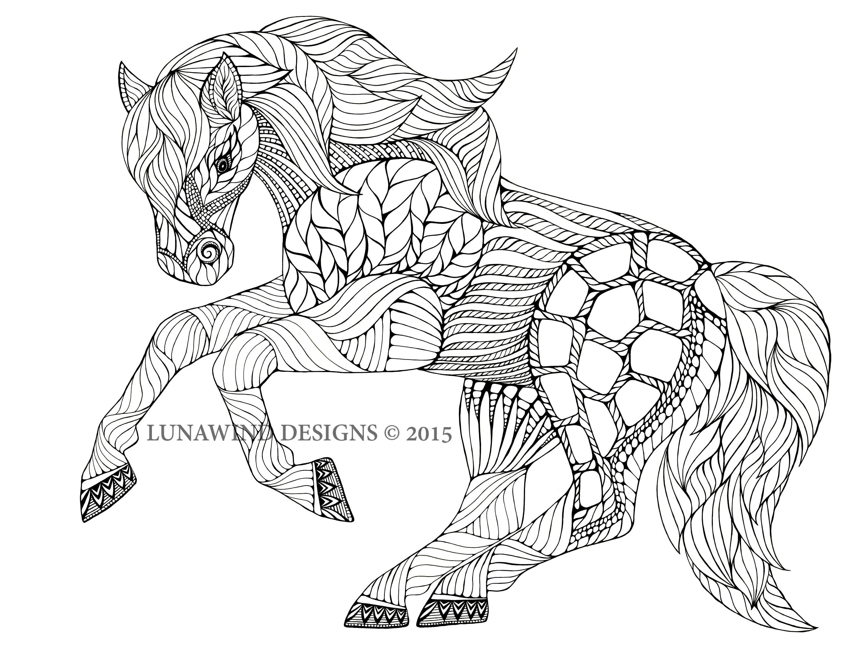 Horse Equine Animal Artwork Coloring Nursery Design