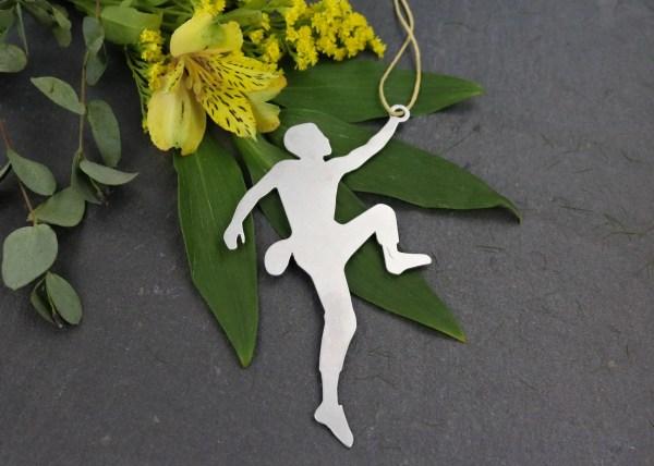 Male Rock Climber Metal Ornament Custom