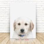 Golden Retriever Puppy Painting On Canvas Fine Art Print Digital Download