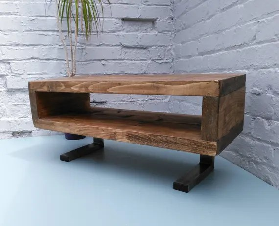 Tv Stand Contemporary Tv Unit With L Shaped Legs Etsy
