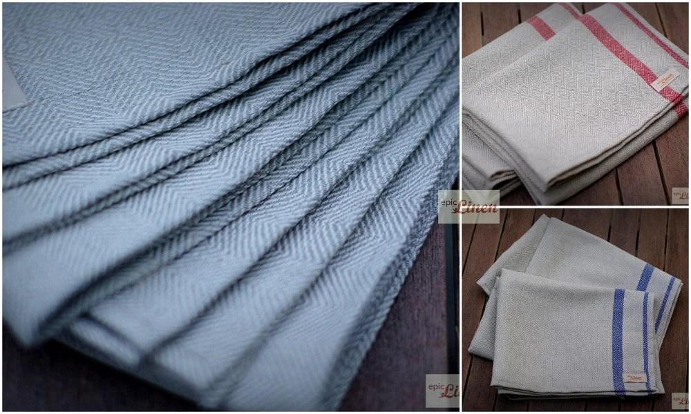 kitchen towels wholesale outdoor patio ideas linen tea cotton set of etsy image 0