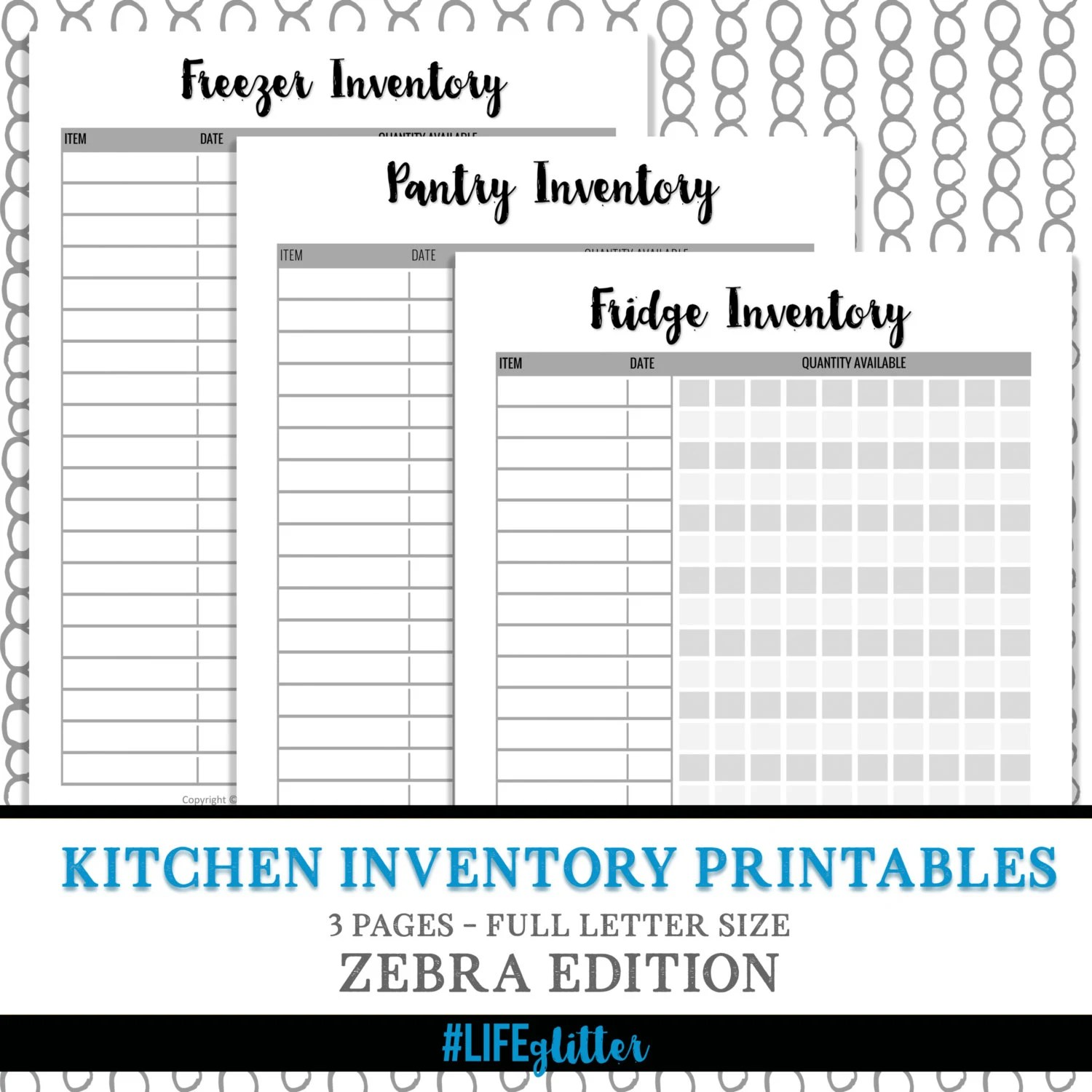 kitchen inventory home depot light fixtures organization meal plan etsy image 0