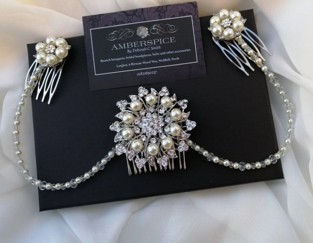 triple hair combs, gatsby headpiece,pearl and crystal, pearl bridal combs, bridal hair combs, art deco, bridal combs, decorative combs ,