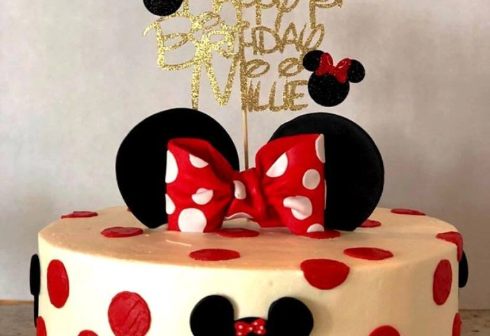 Minnie Mouse Cake Topper Etsy