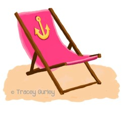 Pink Beach Chair Foam Folding Bed Ikea Sale With Anchor And Without Sand Etsy Image 0