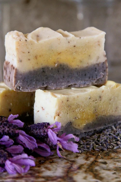1 bar Just Flowers: natural, handmade soap with lavender buds