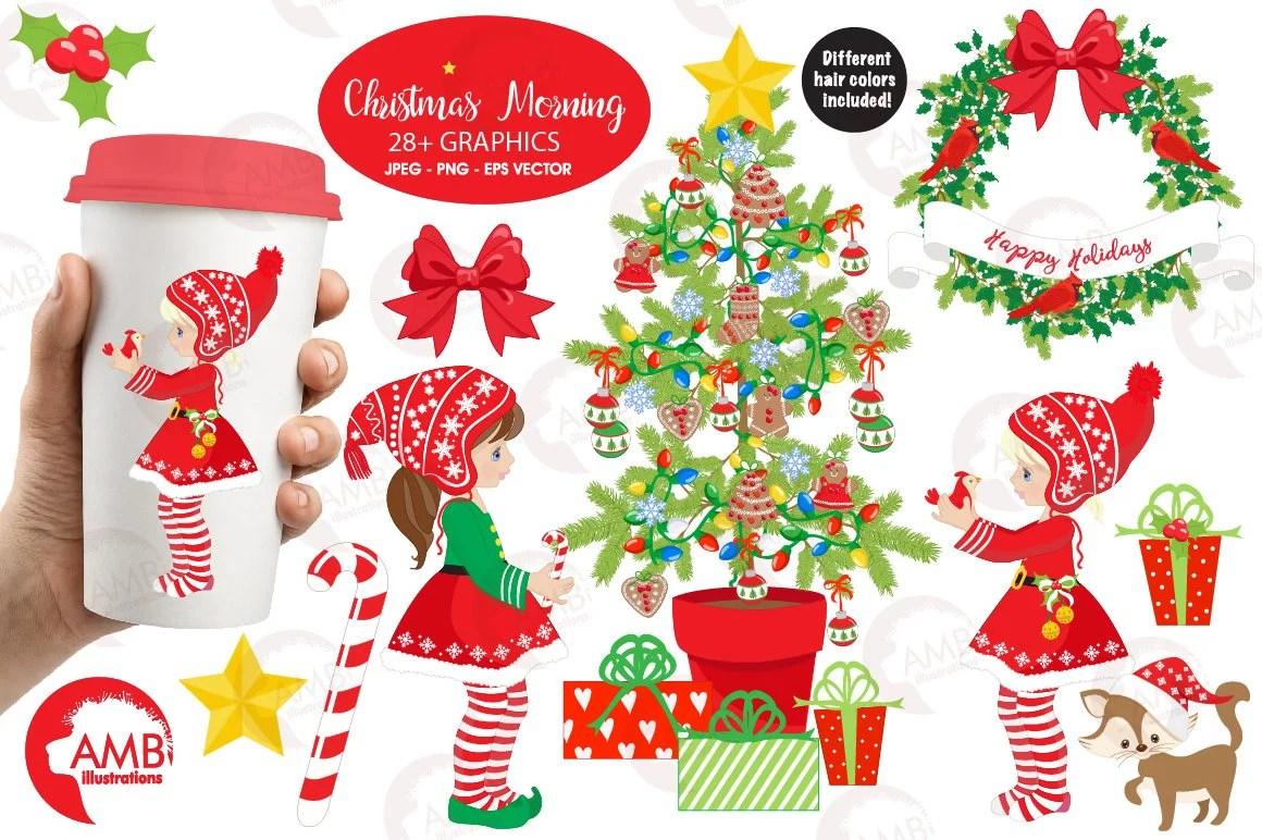 Christmas Clipart Christmas Elves Clipart Christmas Tree