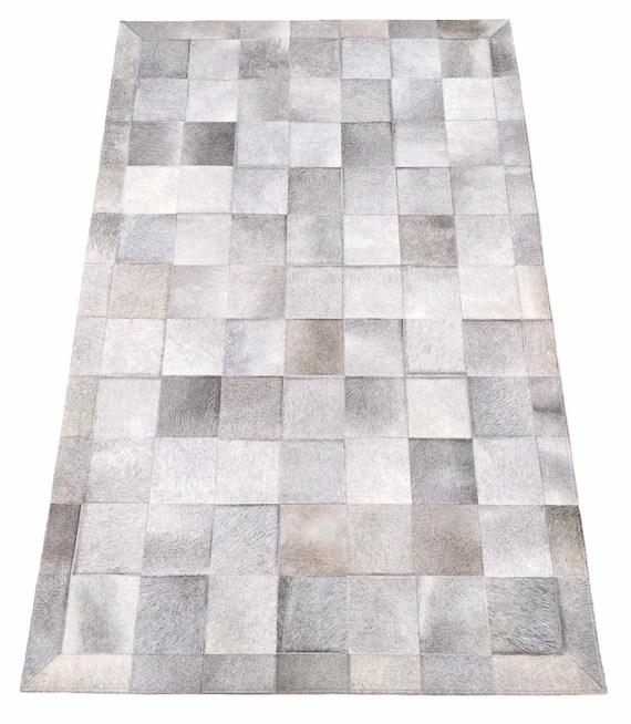 gray cowhide patchwork rug gray patchwork cowhide rug grey etsy