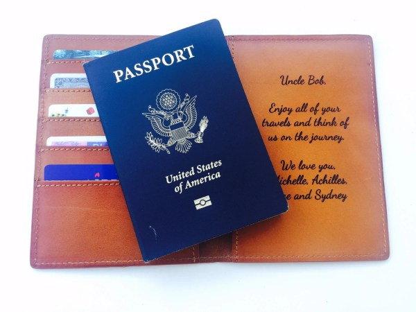 Leather Passport Wallet Double Holder