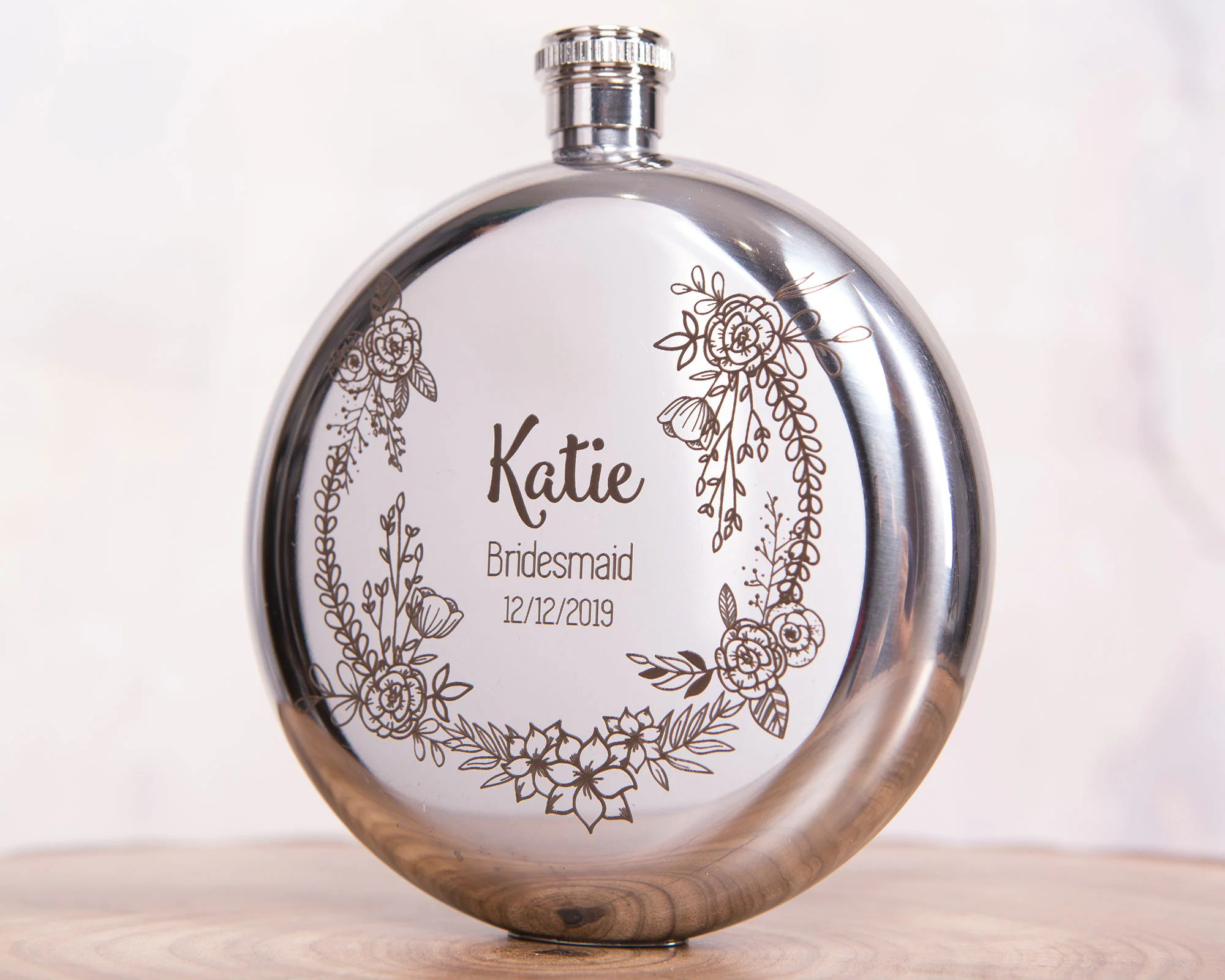 Personalized Flask for Women  Bridesmaid Flask  Optional image 4