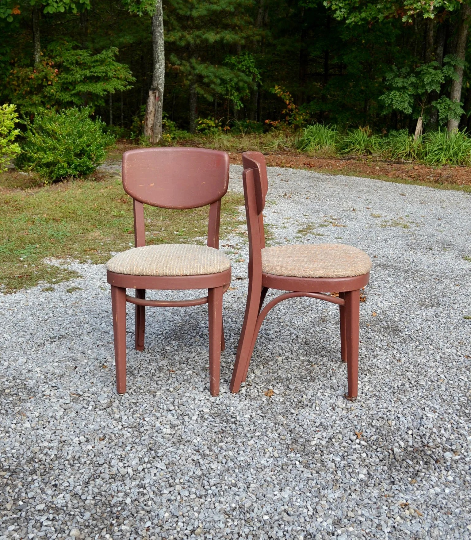 vintage bentwood chairs wedding chair covers tunbridge wells painted furniture upholstered seat etsy image 0