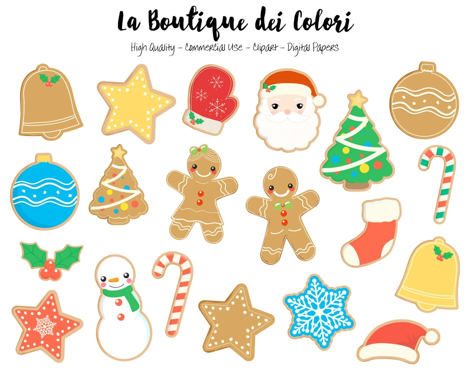 Christmas Cookies Clipart Cute Graphics Gingerbread