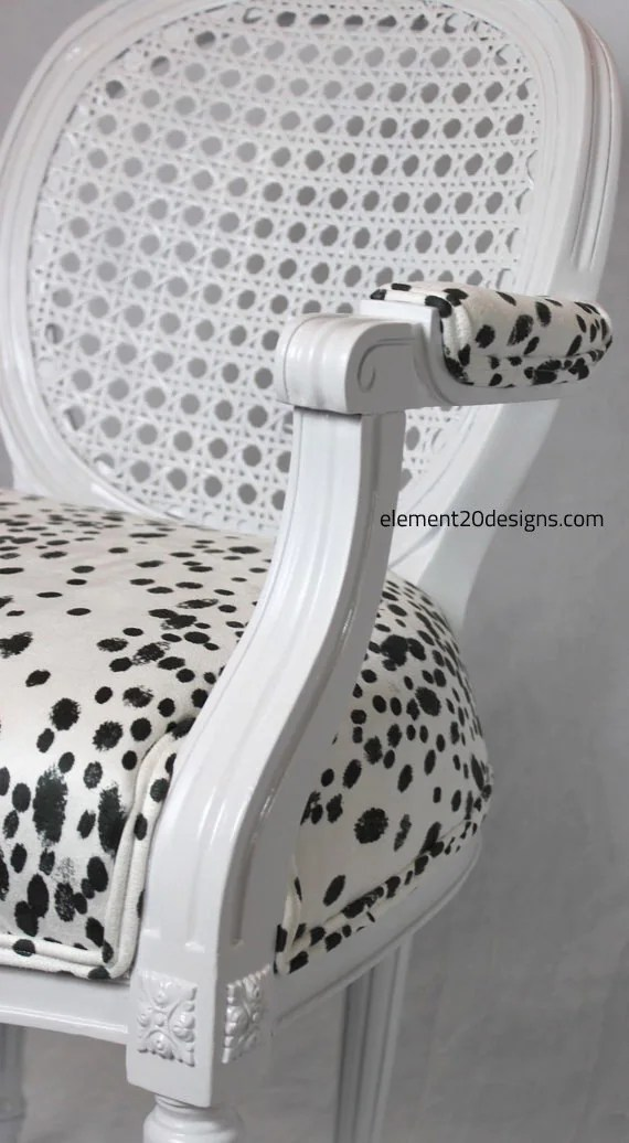 french louis chair graywash bistro dining chairs sold vintage cane dalmatian black etsy image 0