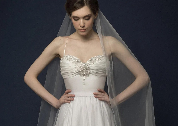 RININA / Romantic Taffeta 100% Silk Wedding Dress Bra Hand