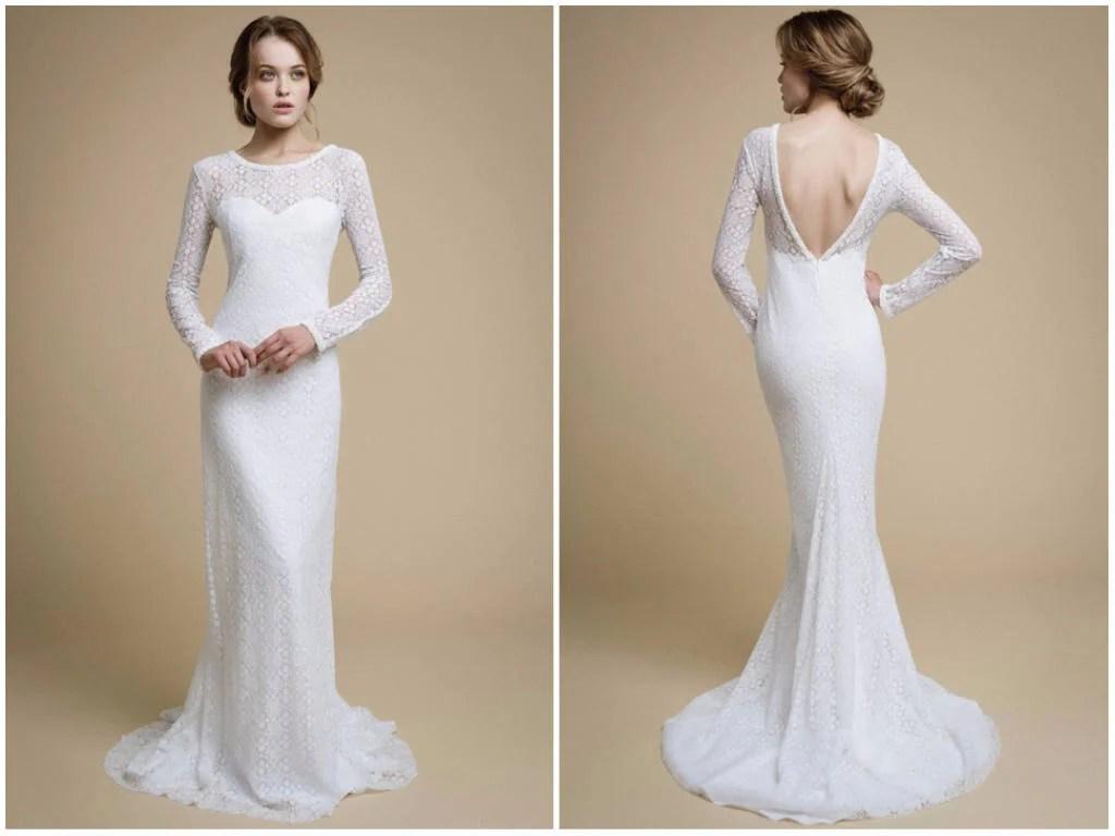 UMELIA / Mermaid Wedding Dress Long Sleeve Wedding Dress