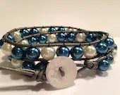 Blue & White Pearl  /  Si...