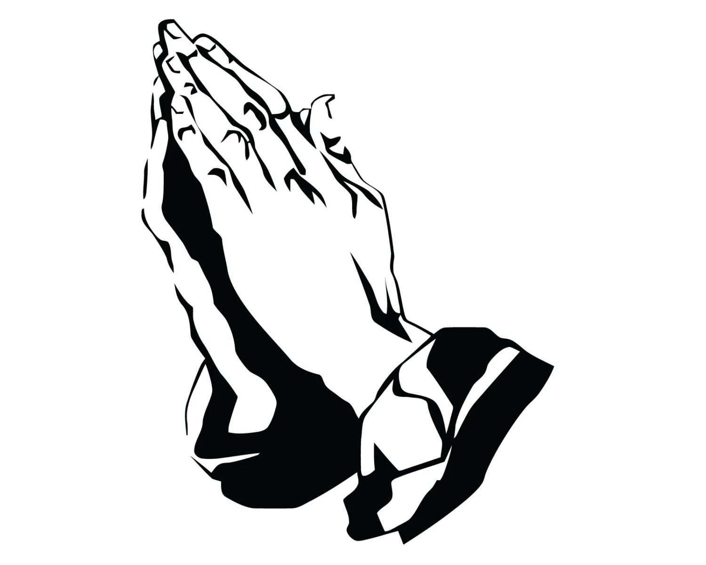 Praying Hands Decal Praying Hands Sticker Jesus Prayer
