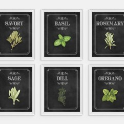 Kitchen Wall Art Decor Outdoor Modular Etsy Herbs Watercolor Cooking Chalkboard Food Spices Culinary Print
