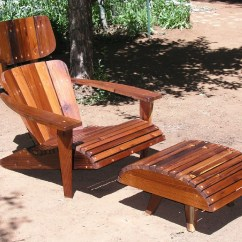 Modern Adirondack Chair Pretty Office Chairs Uk Mid Century Reclaimed Redwood Etsy Image 0