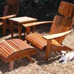 Modern Adirondack Chair Neck Support For Office Set Headrest Ottoman And Side Etsy