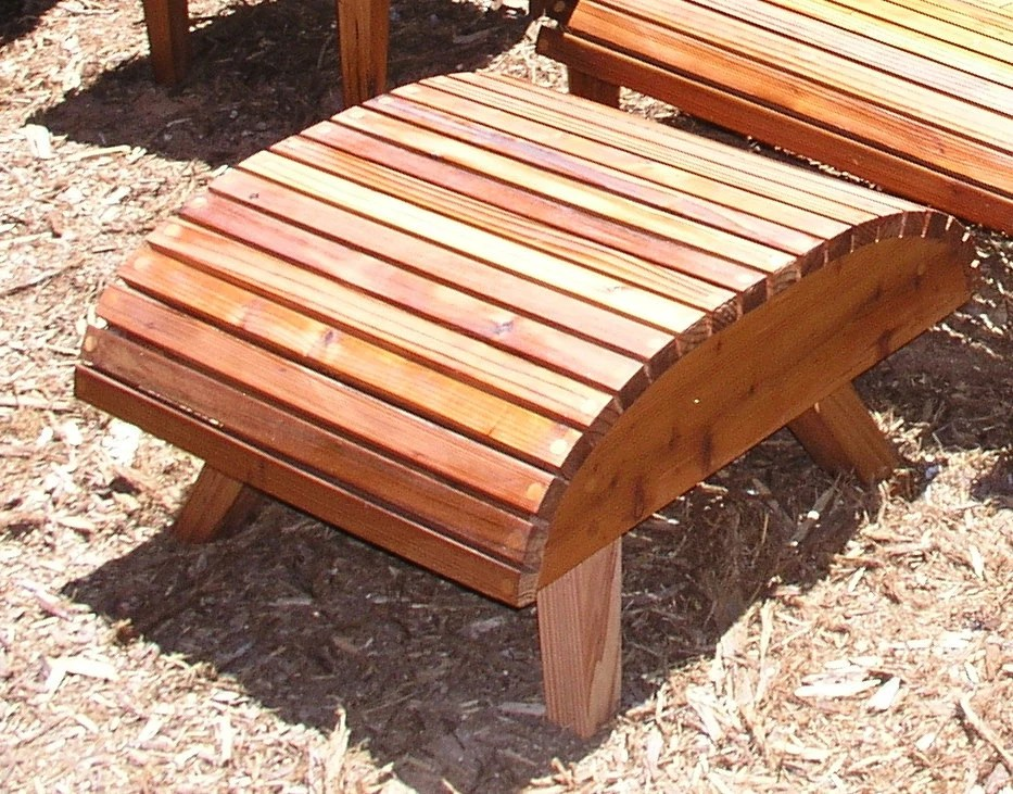 modern adirondack chair wheelchair knee ottoman only reclaimed redwood etsy image 0