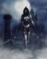 Fan Art Fantasy Art Print Gothic Art Full Moon Graveyard Etsy