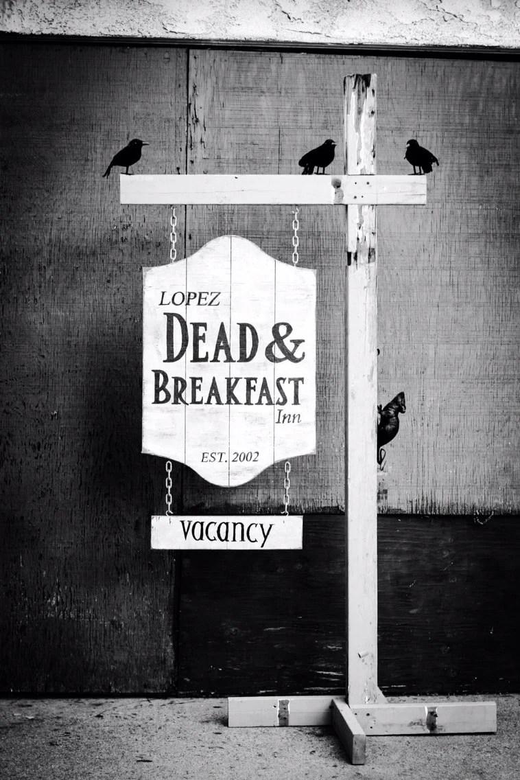 Dead Amp Breakfast Halloween Wooden Sign Custom Hanging Etsy