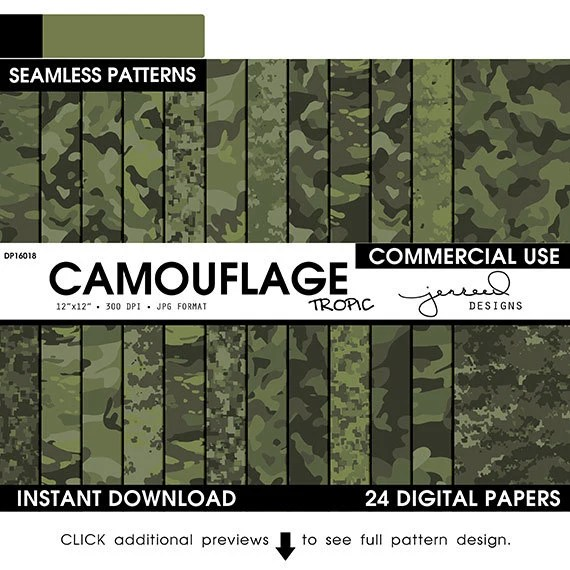 green camo paper military