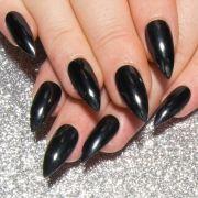 black chrome nails gothic press