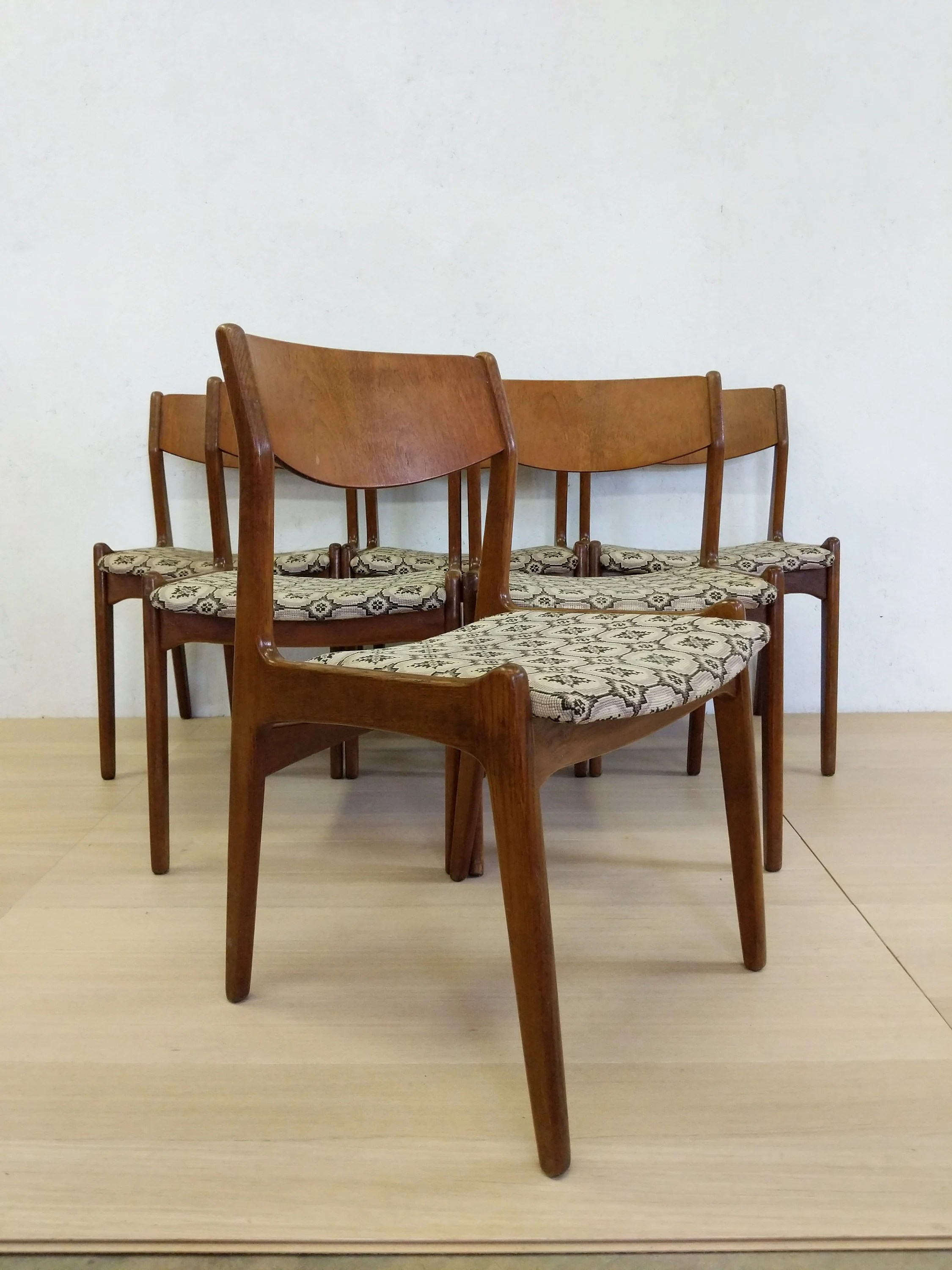 danish modern dining chairs blue folding chair covers set of 6 vintage soro free nyc etsy image 0