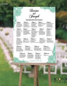 also wedding seating chart board mint green printable guest list etsy rh